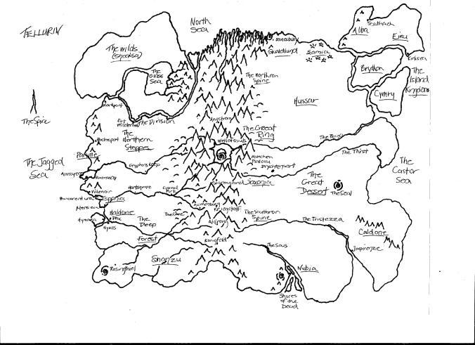 Map of Tellurin