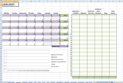 Writing progress worksheet, ready to go
