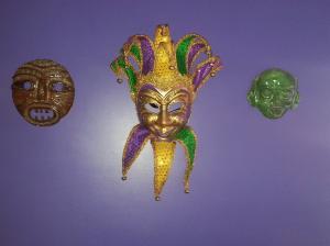 My new mask, making friends