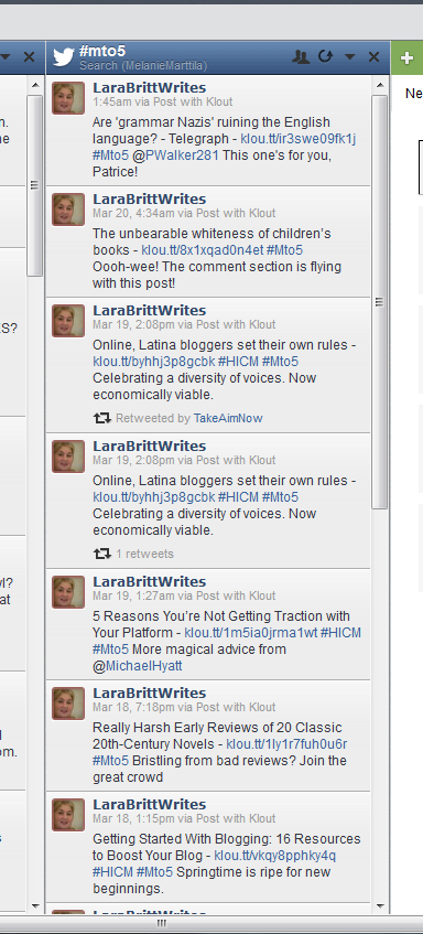 Mto5 hashtag stream in Hootsuite