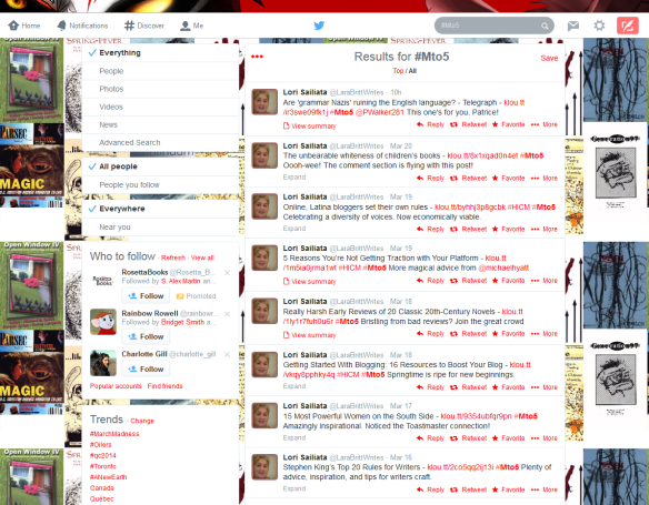 Mto5 hashtag in Twitter