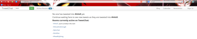 Mto5 hashtag room in tweetchat