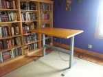 The desk assembled