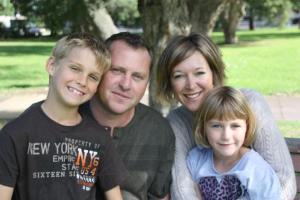 Gemma Hawdon and family